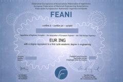 FEANI España actualiza las normas para la obtención del título EUR ING